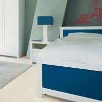 Jugendbett / Kinderbett JACK WOOD-COTTON, 90x200cm