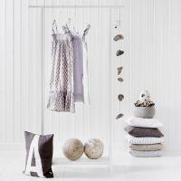Oliver Furniture Garderobe/ Kleiderständer, weiß, 90x154cm