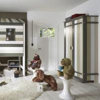 Kleiderschrank TREEHOUSE, 2-türig, Massivholz Kiefer