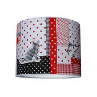 Lampenschirm KATZE, für Pendellampe, schwarz-rot-weiß, Durchmesser 40cm