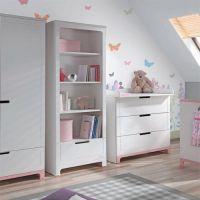 Bücherregal / Regal MINI, 4 Fächer, 1 Schublade, weiß