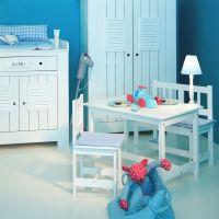 Stabiler Kindertisch LA MER, weiß, 78x55cm weiss