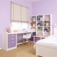 Asoral Roomplanner Schreibtisch mit Regalsystem, Massivholz, 240x165cm