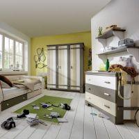 Kleiderschrank TREEHOUSE, 3-türig, Massivholz Kiefer