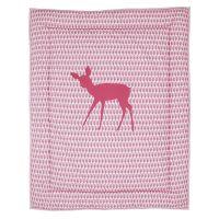 Krabbeldecke ROSA REH, aufwendig bestickt, rosa, 100 x 80cm