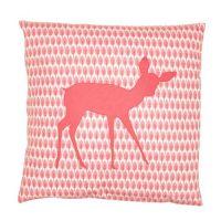 Kissen mit Füllung Dekokissen Motiv Patchwork REH, rosa, 50x50cm