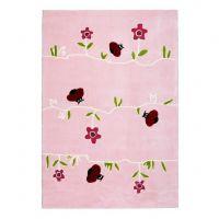 Kinderteppich / Teppich BLUMENWIESE, rosa, 120x180cm / 160x230cm