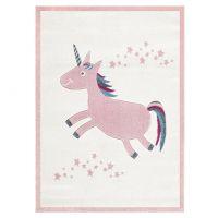 Kinderteppich / Teppich EINHORN, rosa/creme, 120x180cm / 160x230cm