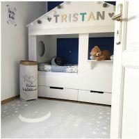 Kinderteppich / Teppich MOON, silbergrau, waschbar, 100x160cm / 140x190cm