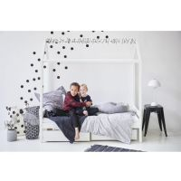 Kinderbett / Hausbett IDA-MARIE, 70x160cm, weiß
