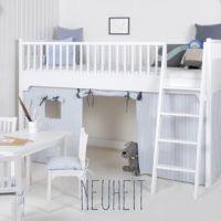 Oliver Furniture Halbhohes Hochbett KIDS, weiß, 90x200cm, Höhe: 131cm