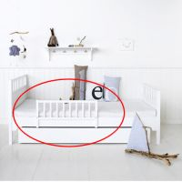 Oliver Furniture Rausfallschutz für Juniorbett / Jugendbett / Tagesbett / Etagenbett KIDS, weiß