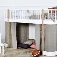 Oliver Furniture Vorhang-Set / Vorhänge für Halbhohes Hochbett  WOOD COLLECTION, natur