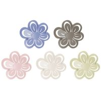 Garderobe / Wandhaken DAISY FLOWER, Metall, 5 Farben