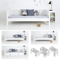 Sanders Bettsofa / Tagesbett / Kinderbett FANNY, 90x200cm, schneeweiß
