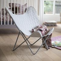Sebra Kinder Sessel Relax Stuhl SCHMETTERLING grau