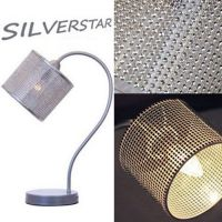 Kinder-Tischlampe / Schreibtischlampe SILVERSTAR, mit Glitzersteinchen, silber