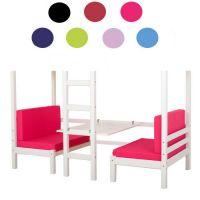 4-teiliges Set Sitzkissen, Matratzen für Hochbett BIG KING, inkl. Bezug