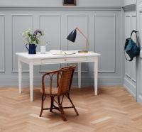 Oliver Furniture Tisch, 2 Schubladen mit Lederbändern, weiß, 116x70cm