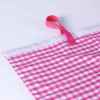 2-teiliges Vorhang-Set VICHY KARO pink, Baumwolle, 75x55cm