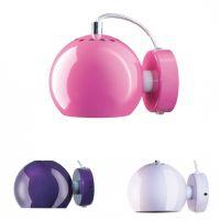 Wandlampe BALL, Metall lackiert, Retrodesign