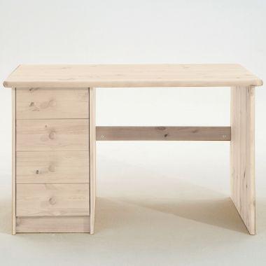 Kinderschreibtisch / Schreibtisch DENNY, Massivholz Kiefer, 4 Schubladen