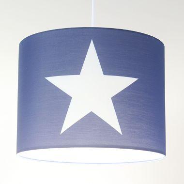 Jugendlampe, Kinder-Hängelampe ROOMSTAR, Stern, 35cm, blau