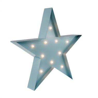 Wandlampe Kinderlampe Marquee Lights STAR hellbau