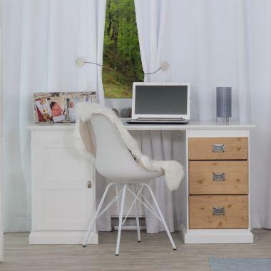 Smart Line Schreibtisch mit drei Schubläden und einer Tür - in 2 Farbvarianten