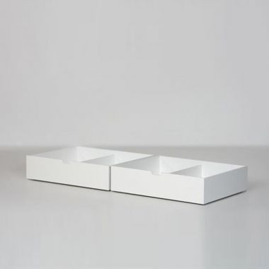 MANIS-H Bettschubladen 2er Set, weiß, für 90x200cm Betten