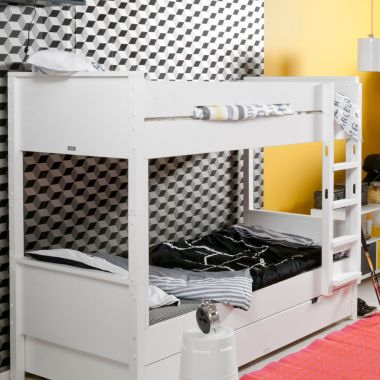 BOPITA Etagenbett COMBIFLEX, weiß, 90x200cm, umbaubar