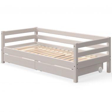 Flexa Classic Bett 90x200cm mit 2 Schubkästen - verschiedene Farben