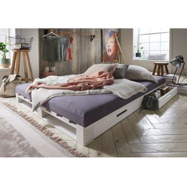 Infanskids Palettenbett mit 2  Schubladen 140x200cm - erhältlich in 3 Farben