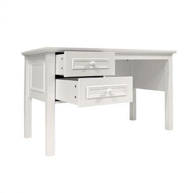 BOPITA Schreibtisch CHARLOTTE, 130x60cm, weiss