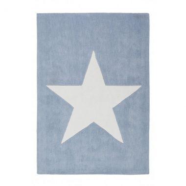 Kinderteppich / Teppich BIG STAR, 120x170cm, pastell-blau