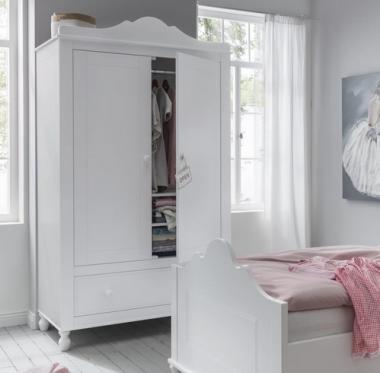 Kleiderschrank Karolin mit 2 Türen und einer großen Schublade