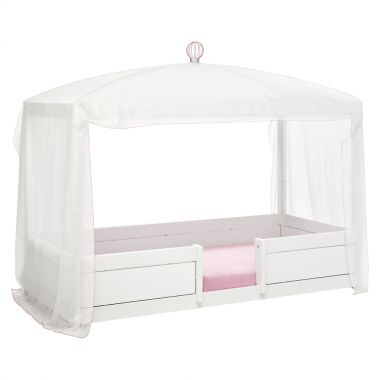 LIFETIME Betthimmel / Vorhang WHITE-PINK für 4-in-1 Kinderbett