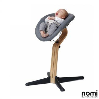 Nomi Hochstuhl Wippe.Nomi Hochstuhl Aufsatz Set Baby Wippe Babywippe Grau