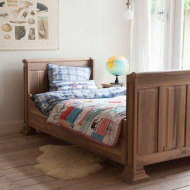 Opsetims Kinderbett Einzelbett THOMAS Massivholz walnuss 90 x 200 cm