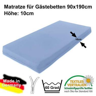 Matratze für Gästebetten / Gästebettmatratze MOON 90x190cm, Höhe: 10cm