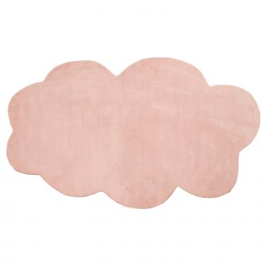Kinderteppich NUBE rosa, Wolken-Form, 230x160cm
