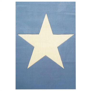 Wollteppich BIG STAR hellblau 120x180cm