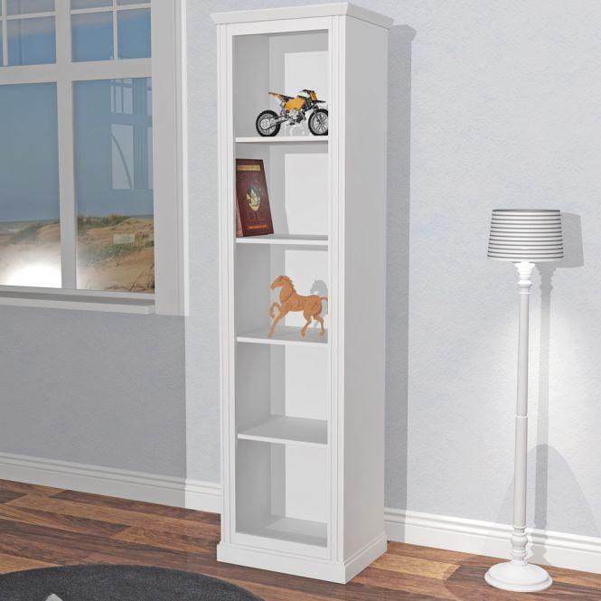 Kinderregale Bücherregal ROOMSTAR 5 Fächer, weiß, 50x40x190cm