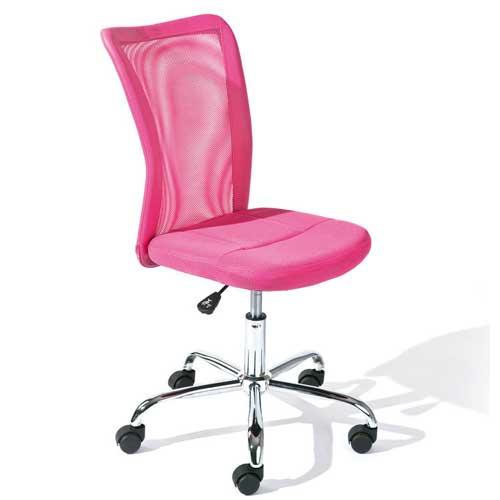 Kinder-Schreibtischstuhl DENNIS, stufenlos höhenverstellbar, MESH, pink