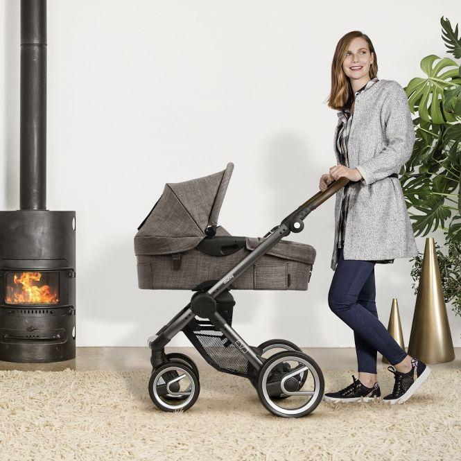 MUTSY Komplett-Kinderwagen EVO FARMER 2018, ab der Geburt, Gestell Dark Grey