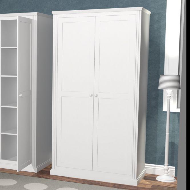 kinderzimmer kleiderschrank roomstar 2 t rig weiss. Black Bedroom Furniture Sets. Home Design Ideas