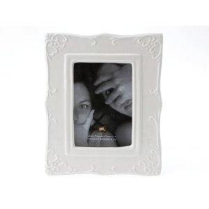 Bilderrahmen ELEGANZA, weiß, Keramik 9 x 13 cm