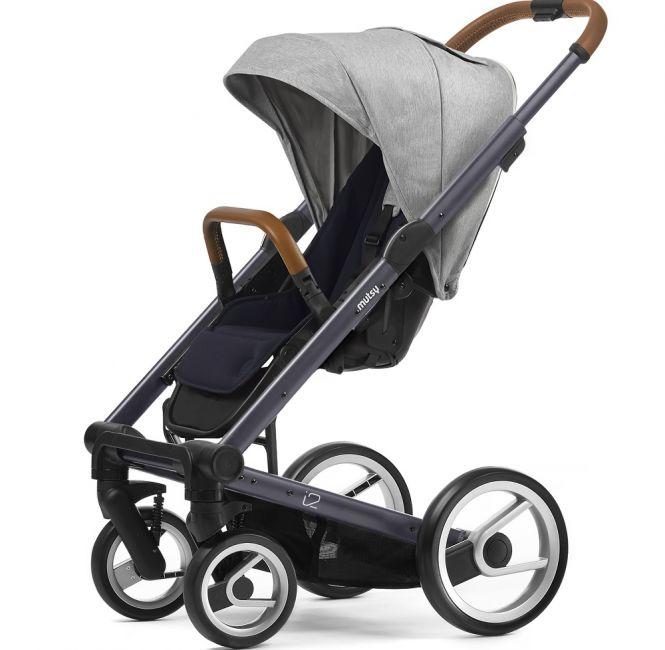 MUTSY Kombi-Kinderwagen i2 PURE 2018, ab der Geburt, Gestell Dark Grey