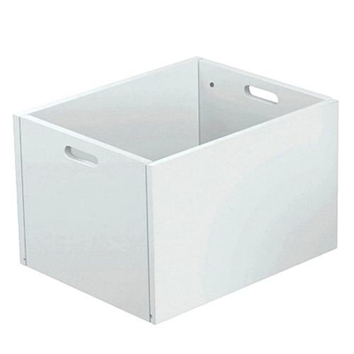 Spielzeugbox / Aufbewahrungsbox PRETTY, Holz/MDF, weiss, 34x42x27cm