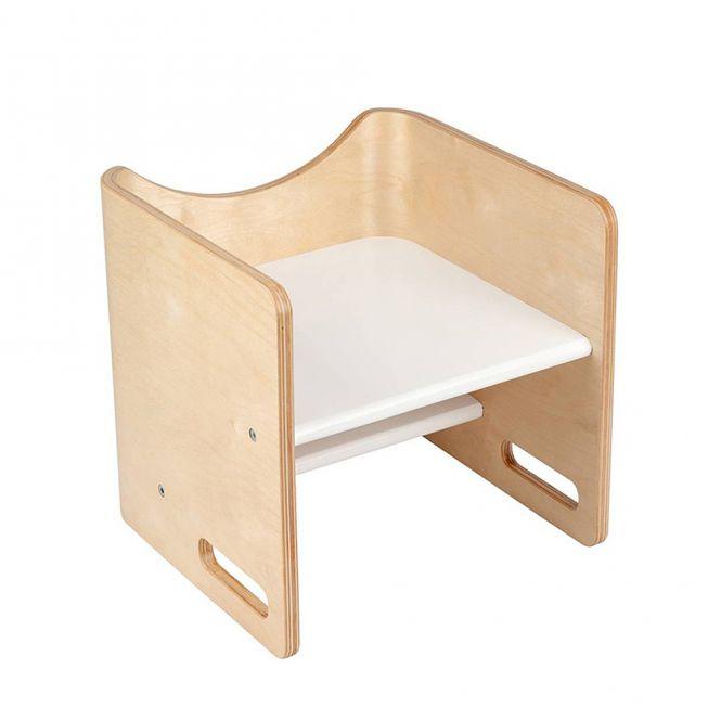 BLOOM Design 3in1 Kinderstuhl Trittstuhl POGO natur-weiss